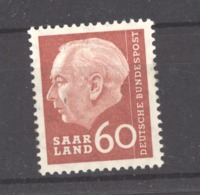 Sarre  :  Yv  376  ** - Unused Stamps