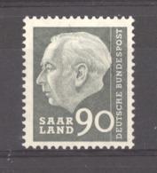 Sarre  :  Yv  379  ** - Unused Stamps