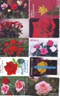 10 Télécartes - Prepaid Différentes JAPON * FLOWERS * ROSES (LOT A-73) JAPAN 10 DIFF FLOWERS PHONECARDS * 10 VERSCH TK - Blumen