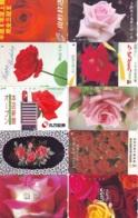 10 Télécartes - Prepaid Différentes JAPON * FLOWERS * ROSES (LOT A-74) JAPAN 10 DIFF FLOWERS PHONECARDS * 10 VERSCH TK - Blumen