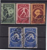 Z.10560 Greece, 1939, Full Set Used, Michel 421 - 24: 10rd Balkan Games Athen - Gebruikt