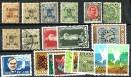 Islandia LOTE 20 Sellos - Colecciones & Series