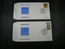 "BELG.1993 2501 & 2502 FDC's ( Brus/Brux ) :  "" Europa 1993 "" - FDC"