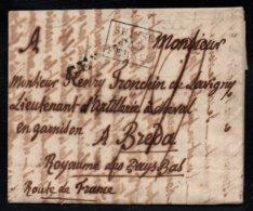 SUISSE PAR FERNEY / 1818 CACHET D'ENTREE SUR LAC DE GENEVE POUR BREDA - PAYS BAS (ref 5904) - Marcophilie (Lettres)