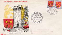 1047 De 1955 - Enveloppe 1er Jour  - Blason Du Comtat Vanaissin - FDC