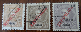 &128& MACAU MICHEL 193/194, 195 FINE USED. - Macao