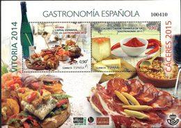 ESPAGNE Bloc Gastronomie 2015  Neuf ** MNH - 2011-... Unused Stamps