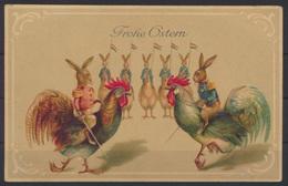 Tolle Präge Ansichtskarte Ostern Geflügel Hahn Glückwunsch Ungelaufen - Pasen