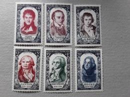 France 1950 Serie Célébrités RÉVOLUTION FRANÇAISE Yvert 867 / 872 , Neuve * MH TB Cote 53 Euros - French Revolution