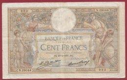 "100 Francs ""Luc Olivier Merson"" Du 19/02/1931.AQ ---F/TTB+--ALPH .N.29044 --(3) - 100 F 1908-1939 ''Luc Olivier Merson''"