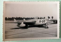 Photo Avion Mistral 8e Escadre De Chasse Entre 1955 Et 1960 BA 151 Rabat-Salè Maroc - Aviation
