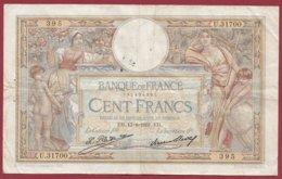 "100 Francs ""Luc Olivier Merson"" Du 13/08/1931.EH ---F/TTB+--ALPH .U.31700 --(5) - 1871-1952 Antiguos Francos Circulantes En El XX Siglo"