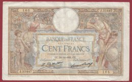 """100 Francs """"Luc Olivier Merson"""" Du 24/12/1931.CC ---F/TTB+--ALPH .J.33447 --(8) - 1871-1952 Antiguos Francos Circulantes En El XX Siglo"""