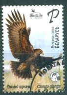 TH_ Belarus 2019 Bird Of Year Great Spotted Eagle Birds Fauna 1v Used - Uccelli