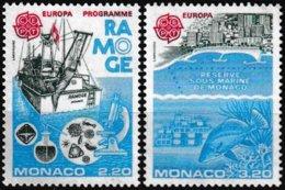 Série De 2 T.-P. Gommés Neufs** Europa Protection De La Nature Et De L'environnement  N° 1520-1521 (Yvert) - Monaco 1986 - Monaco