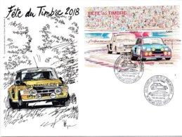 Enveloppe Souvenir 1er Jour (2 Cachets Datés)fête Du Timbre 2018 à Conflans Sainte Honorine - Autres
