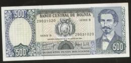 Bolivia 500 Bolivianos 1982  Pick 166 AUNC - Bolivia