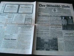 Der Altmühlbote,NSDAP-Verkündungsblatt (Bayern),3.Juli 1940,France-Battle,Straßburg - Hobbies & Collections