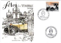 Enveloppe Souvenir 1er Jour (2 Cachets Datés) Fête Du Timbre 2019 à Conflans Sainte Honorine - Autres