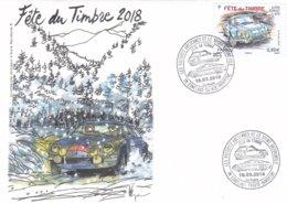 Enveloppe Souvenir 1er Jour (2 Cachets Datés) Fête Du Timbre 2018 à Conflans Sainte Honorine - Autres