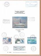 """AN - Patrouilleur """"ALBATROS"""" 1ère Mission TAAF - Oblitérations Des 3 Districts Sur Timbres TAAF- Signature De L' Artiste - Terres Australes Et Antarctiques Françaises (TAAF)"""