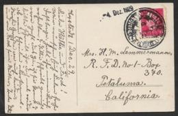 1929 Dt.Reich - Postkarte Nach USA - 15 Pfg NEGATIVSTEMPEL DEUTSCHE POSTAGENTUR - SELTEN ! - Deutschland