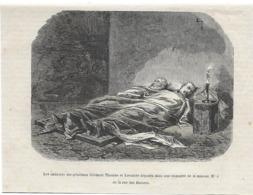 Gravure 1873 Commune De Paris - Cadavres Des Généraux Thomas Libourne Et Lecomte Thionville Rue Des Rosiers - Historical Documents