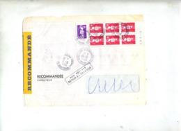 Devant De Lettre Recommandé Chalons + Non Reclamé Retour + Strasbourg - Postmark Collection (Covers)