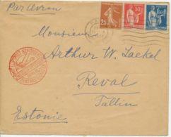 """FRANKREICH 1933 Lupo-Bf """"PARIS - TALLIN, Estland"""" K2 LUFTPOST BEFÖRDERT BERLIN - 1927-1959 Cartas"""