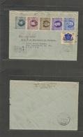 Romania. 1956 (21 June) Bucarest - Orsova (24 June) Registered Multifkd Env. VF. - Romania