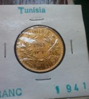 TUNISIE French Protectorate - 1 FRANC - 1941 - KM 247 - UNC , Agouz - Tunisia