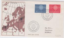 Sweden FDC 1960 Europa CEPT (G88-64) - Europa-CEPT