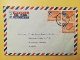 1950 BUSTA INTESTATA AIR MAIL SINGAPORE STORIA POSTALE  BOLLO REGINA ELISABETTA QUEEN ELISABETH ANNULLO  OBLITERE' - Singapore (1959-...)