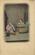 Japan, Beautiful Geisha Ladies Taking A Bath, Bathtub (1899) Postcard - Sonstige