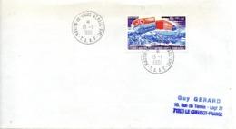 TAAF. PA 62 De 1980 Sur Enveloppe Ayant Circulé. Véhicule Antarctique. - Polar Philately