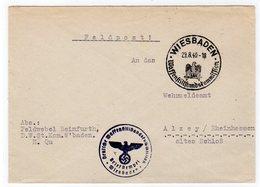 """Feldpostbrief Absenderstempel """"Deutsche Waffenstillstandskommission"""" - Besetzungen 1938-45"""