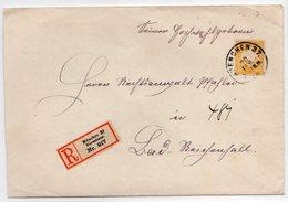 Eingeschriebene-Brief EF. Mit Mi.-Nr. 67 - Bayern