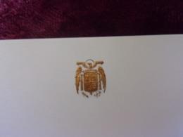 CARTE DE VISITE VIERGE DU GENERAL FRANCO ESPAGNE SPAIN - Documentos