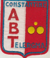 Algérie : CONSTANTINE : écusson Tissus - A. B. TELERGMA ( Association Bouliste De Telergma ) Format 7,5cm X 6,3cm - Konstantinopel