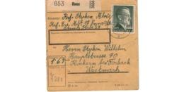 Colis Postal  -  De Enns   - Pour Kochern ( Cocheren )  -  28-8-43 - Germany