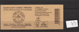 Carnets Marianne De CIAPPA,N° 858 C4 12 Timbres , Lettre Verte - Carnets