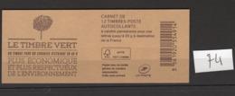 Carnets Marianne De CIAPPA, N° 858 C1   12 Timbres , Lettre Verte - Carnets
