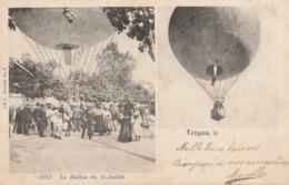 LE BALLON DU 14 JUILLET 1902 A TROYES - BELLE ET - RARE - CARTE PRECURSEUR MULTIVUES TRES ANIMEE - 2 SCANNS - TOP !!! - Other