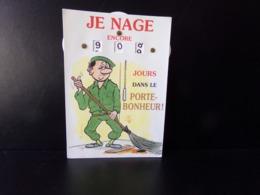 """Calendrier De La Classe """" Père Cent """" Je Nage Encore ... Jours Dans Le Porte-bonheur """" - Humour"""