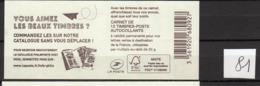 Carnets Marianne De CIAPPA, 12 Timbres , Lettre Verte - Booklets