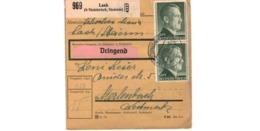 Colis Postal  -  De Laak ( Steinbrück , Steierm )  -  24-3-43 - Deutschland