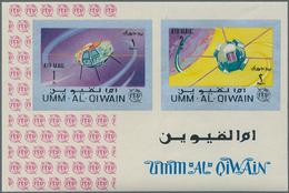 Umm Al Qaiwain: 1965/1967, Lot Of 6185 IMPERFORATE Stamps And Souvenir Sheets MNH, Showing Various T - Umm Al-Qaiwain