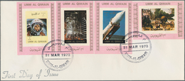 Umm Al Qaiwain: 1969/1973, Space Issues, Assortment Of 22 Covers (mainly Unaddressed Envelopes) With - Umm Al-Qaiwain