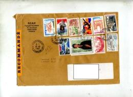 Lettre Recommandée Paris Sur Bel Affranchissement - Postmark Collection (Covers)
