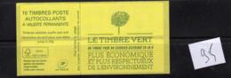 Carnets Marianne De CIAPPA, 10 Timbres , N° 858 C2 Lettre Verte - Carnets